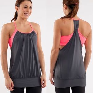 Lululemon No Limits Tank Top Grey and Pink